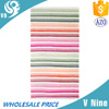 100% cotton fabric velour printed custom colorful stripe towel