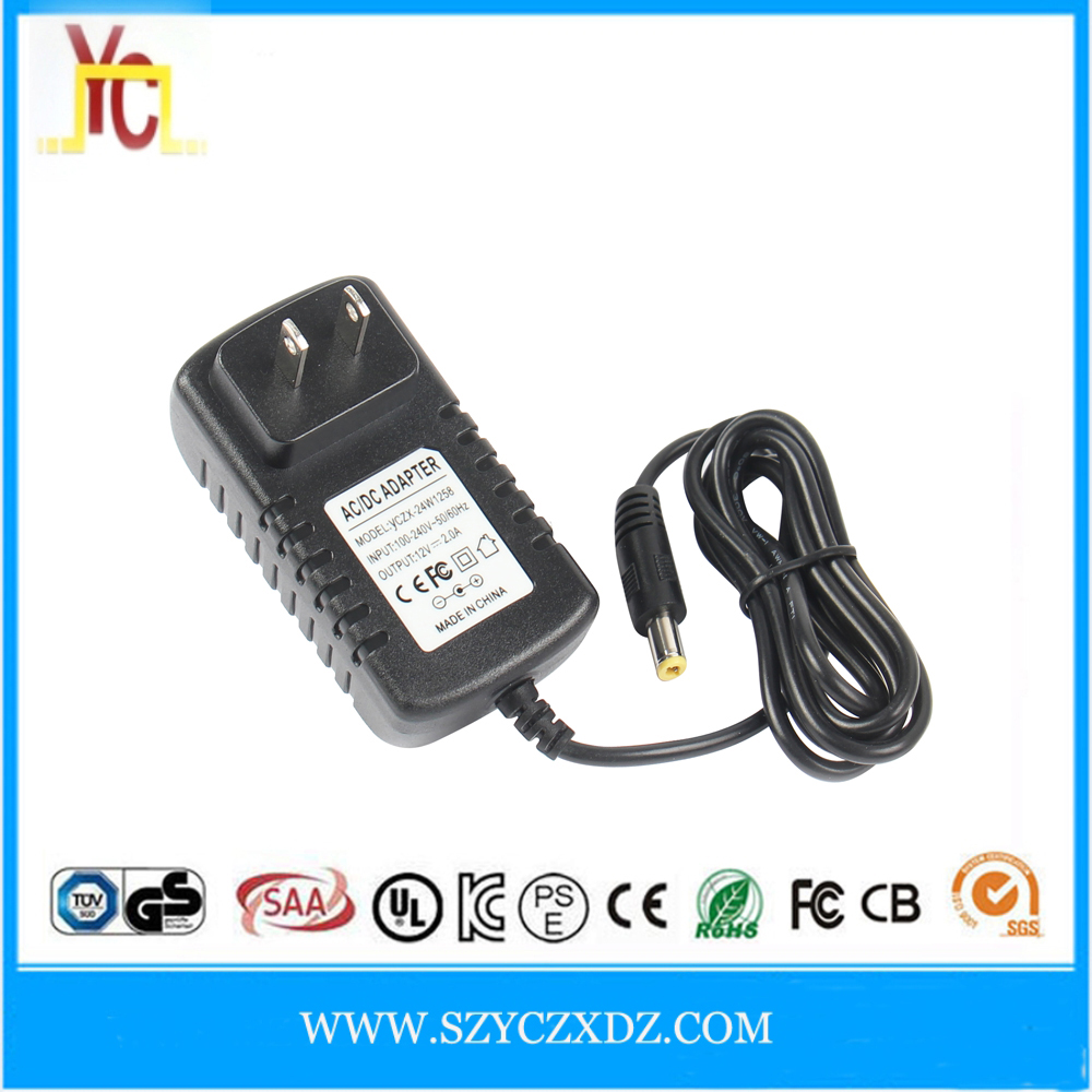 AC/DC wall-plug EU US power adapter supply 7.5V 1.5A 2A 2.5A use for mobile phone