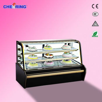 CE approved display chiller cabinets fan cooling pastry display
