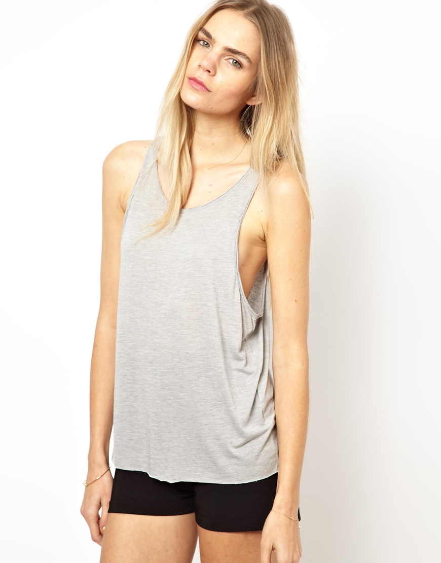 Blank drop armhole vest women tank top wholesale