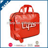 Fashion red PU leather sports bag