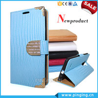 Luxury Electroplate Diamond Magnet Wallet Style PU Leather Case Cover For Blu Studio X Mini With Stand