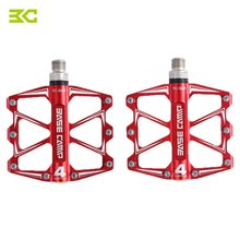 2PCS BC - 688 Mountain Bike Bicycle Pedal MTB Flat Pedals Aluminum Alloy 4 Ball Bearings Ultralight Bicycle Accessory Parts