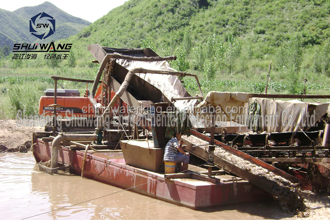 2015 new high efficiency 8 inchs gold suction dredge boat for sale