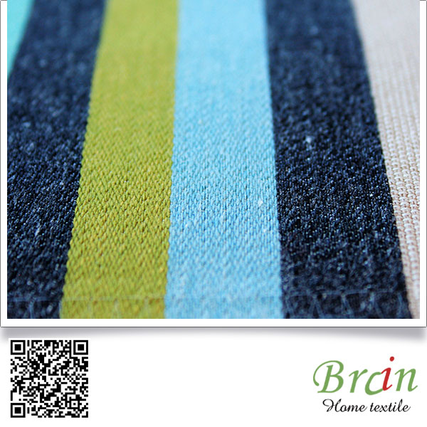 2016 Customized Striped Design upholstery fabric for sofa