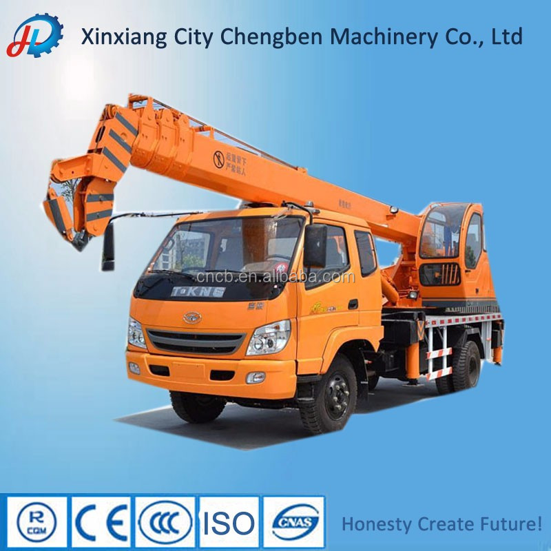 Diesel/Electric Power System Mobile Conventional Small Crane with T-king Truck Chassis