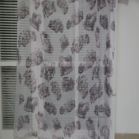 Pretty boy's room woven printing sheer organza drapery fabric