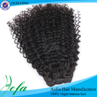 Natural mongolian kinky curly extension cheap long curly hair weave