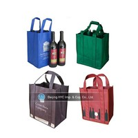 2015 New Design leather wine carrier