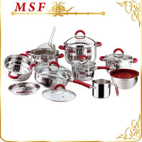 16pcs whole set kitchenware stainless steel cookware kitchen set
