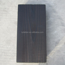 Carbonized wood for outdoor burnt wood furniture