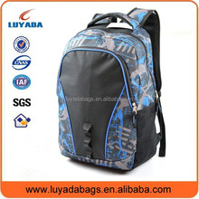 fashion blue eco friendly backpack for sports and promotiom