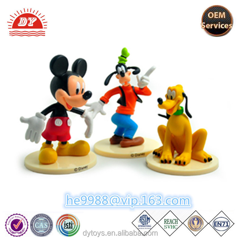 2016 hot sell plastic cartoon famous licensed characters figurines toy