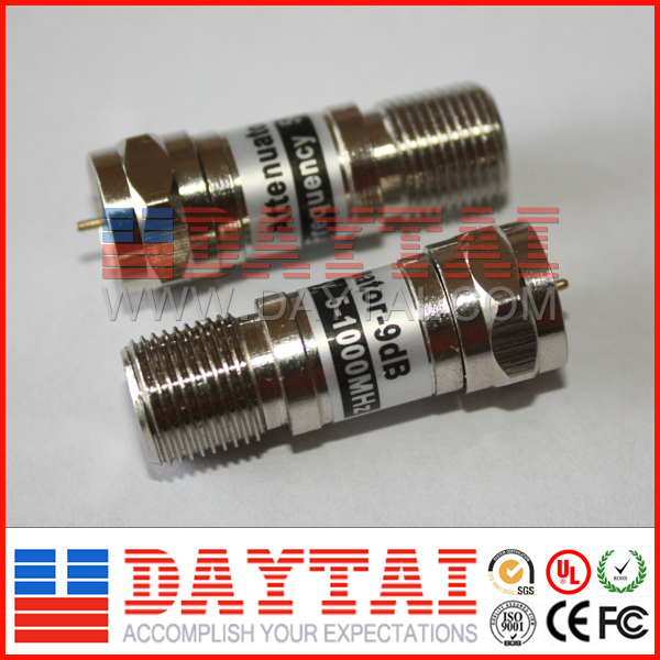 F type CATV attenuator coaxial fixed attenuator for sale