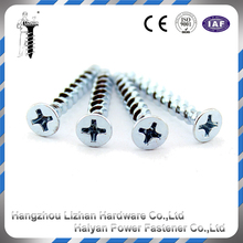 Self Tapping Screw Countersunk Undercut 8 Gauge Head Phillips Drive Zinc Plated
