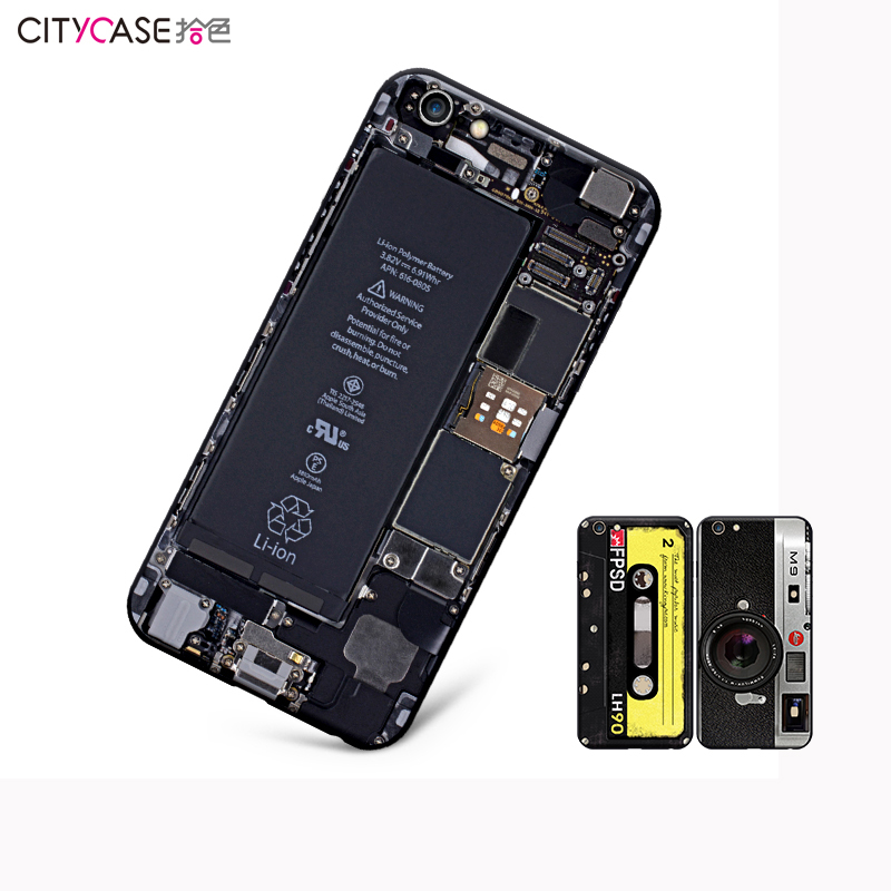 Citycase Plastic Phone 3D Soft Silicone Case Design Back Cover customized mobile phone case for iphone