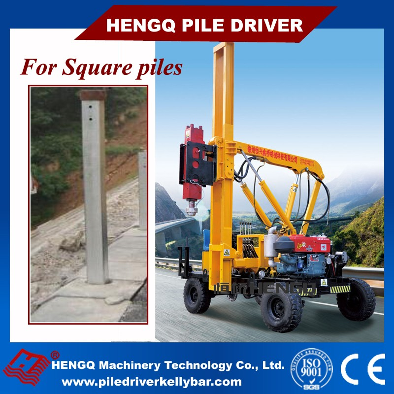 Roads Safety Isolation Belt Mounted Pile Driving Machine Guardaril Pile Driver