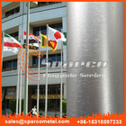 internal halyard tapered seamless aluminum flag pole