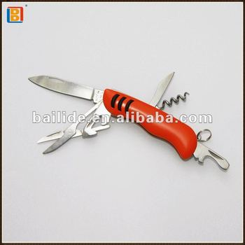 2018 Hot Selling Pocket Orange Multi Wave Knife With 6 Functions