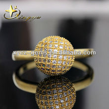 Silver / Gold Plating Simple AAA Cubic Zirconia Stone Mirco Pave Ring TR908082