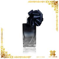 Paris black rose transparent bottle perfume bulb atomizer