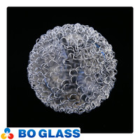 Indoor and outdoor pyrex lighting glass globe with metal wire webbing