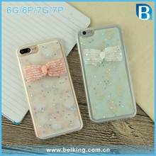 Jewelry Bow tie ultra soft tpu case ,for iphone case glitter start tpu cell phone case