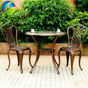 Cast Aluminum Patio Furniture Chairs And Tables Outdoor for Garden Sets