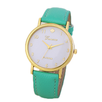 Arabia Numbers Face PU leather Strap Geneva Brand Women's Watches Pu Leather Strap Fashion Watches For Girls Hot Sale Lady Watch