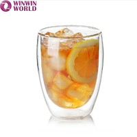Bar Drinking Double Walled Clear Whisky Glass Cup