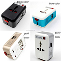 Universal International Adapter 2 USB Port travel Travel AC Power Charger Adaptor with AU US UK EU Plug