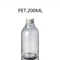 200ML Plastic Containers For Chemical With Aluminum Screw Lid w/Natural Liquid Dispenser