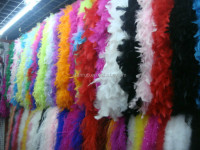 Wholesale Feather Boas Turkey Flat Chandelle Boa For Wedding Supplies Wedding Decoration
