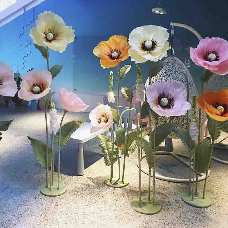 Hot sale fashion artificial standing paper flower stand wedding decoration table centerpieces for wedding table