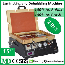 "Least Expensive 2 In 1 15"" LCD Laminating Atuoclave Bubble Remover Machine For Touch Screen Glass Refurbishment MD900"