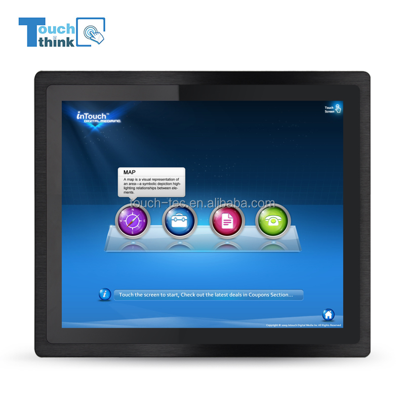 15.6 inch Industrial Touch Screen All in One PC LCD Touchscreen Monitor with Built in WIFI