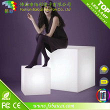 Outdoor RGB color changing waterproof chair lighting 3d led