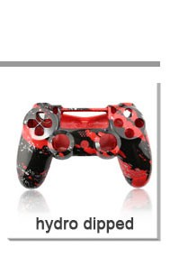 Redblack camo hydro dipped replacment shell for ps4 controller housing