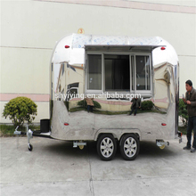 2017 Yiying Big Space mobile camper trailer stainless steel kitchen