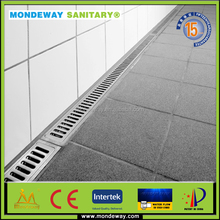 "SUS 316 for shower light cover drainage tray stainless steel floor drain/stainless steel linear drain 84""/pvc roof drainage SET"