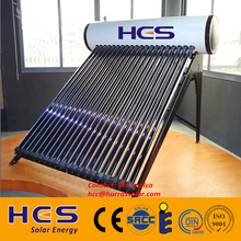 Quality-assured compact pressure rooftop hot solar water heater