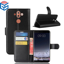 Mobile Phone Premium PU Flip Leather Cases Back Cover For Nokia 9