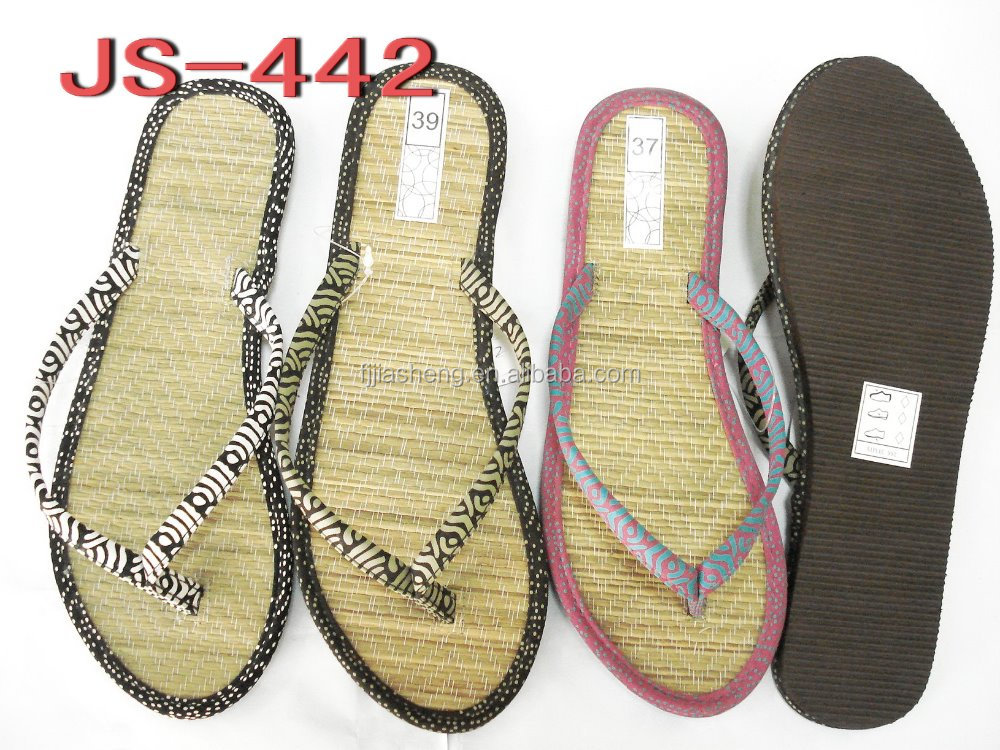 summer cool straw woman slipper flip flop