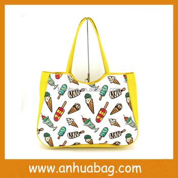 summer beach large shopping tote bag wholesale