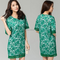 New Arrival Spring Summer Flower Print Loose Fit Casual Australia Sex Girls Dress International Shopping Online