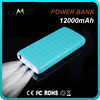 2016 trending products private label smart portable fast charging12000mah strong light torch power bank for android mobile phone