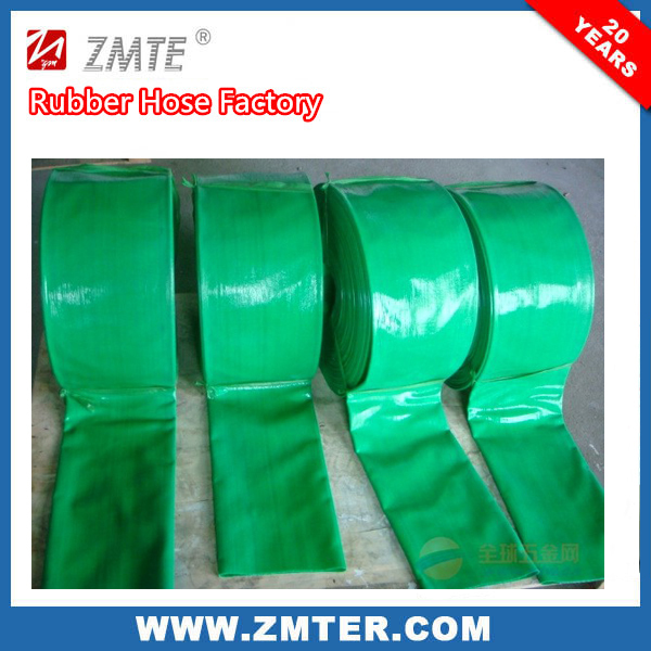 Green color High quality 3 inch PVC Layflat Suction irrigation hose