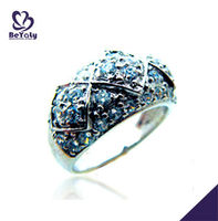 High Quality Blue Stone Rings,Rings Made Of Stone