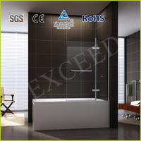 Glass shelf hinge shower bathtub screen EX-231