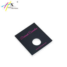 HUAXIN Packaging Custom Black Cardboard Envelope, Gilding Paper Envelope with Window